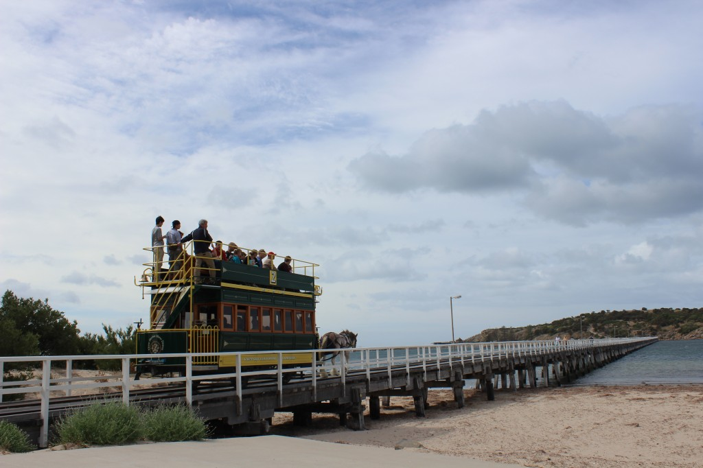 Horse Drawn Tram at Victor Harbour