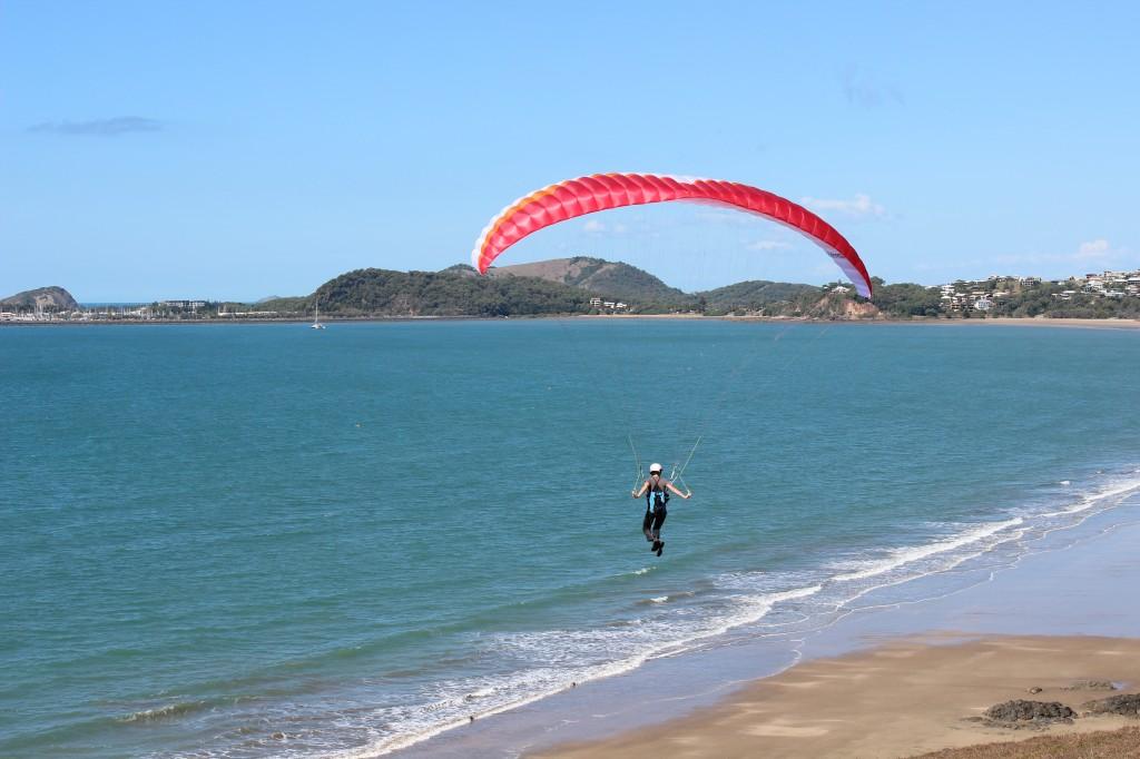 Hang-Glider at Kemp Beach