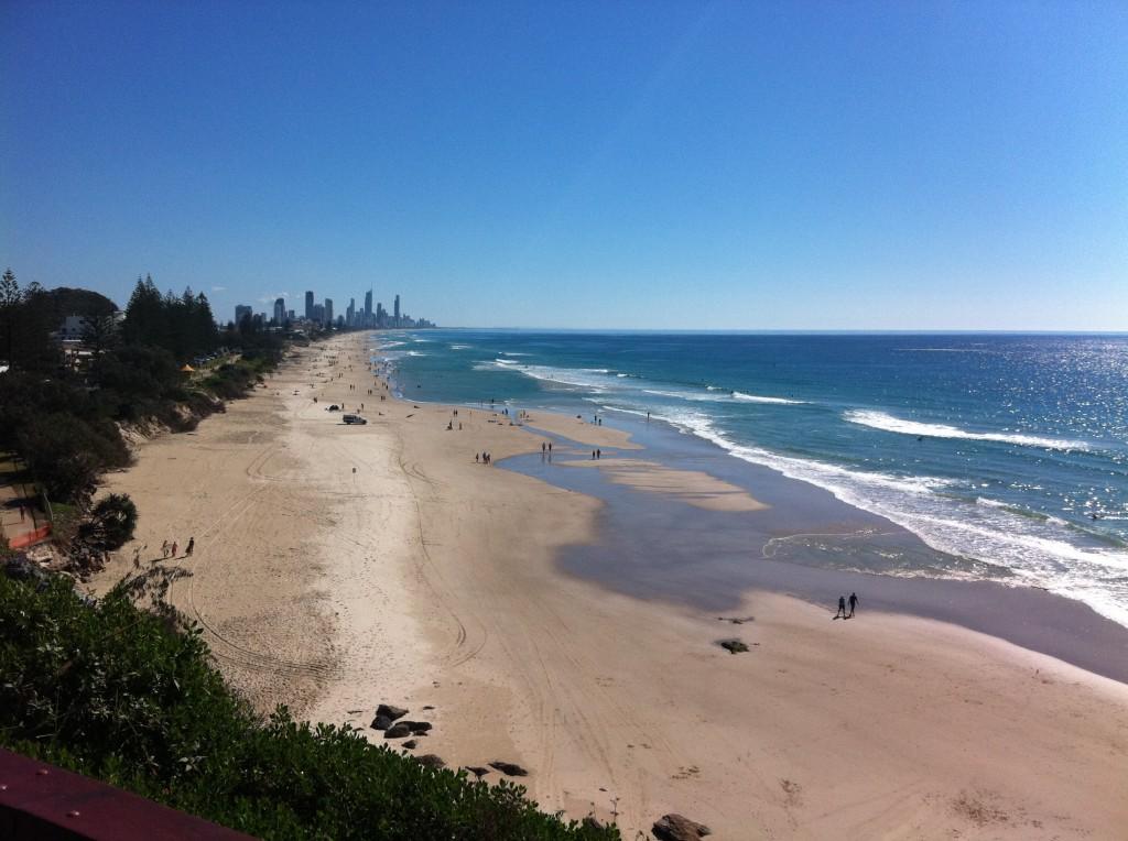 Views towards Surfers Paradise