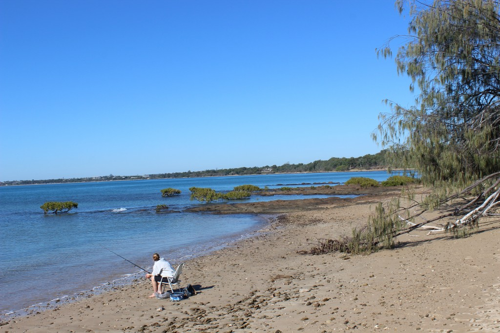 Fishing on the shores of Hervey Bay