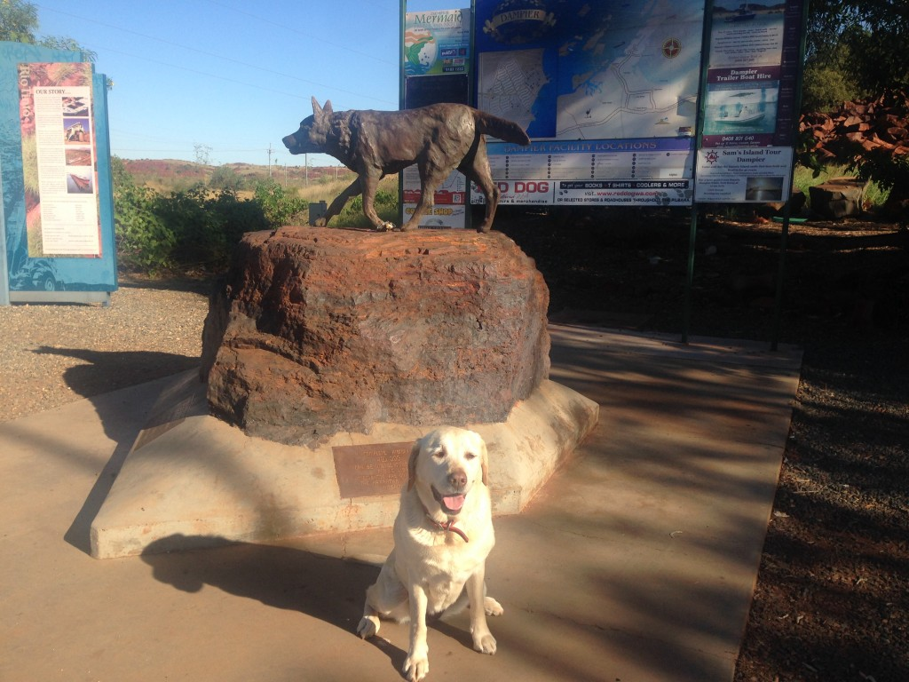 Jada with the Pilbara Wanderer, Red Dog