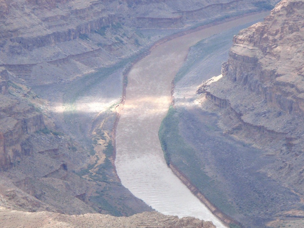 Colorado River snakes it's way through the Grand Canyon