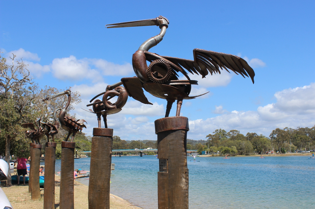 Currumbin Creek 'Pelicans' Scupltures