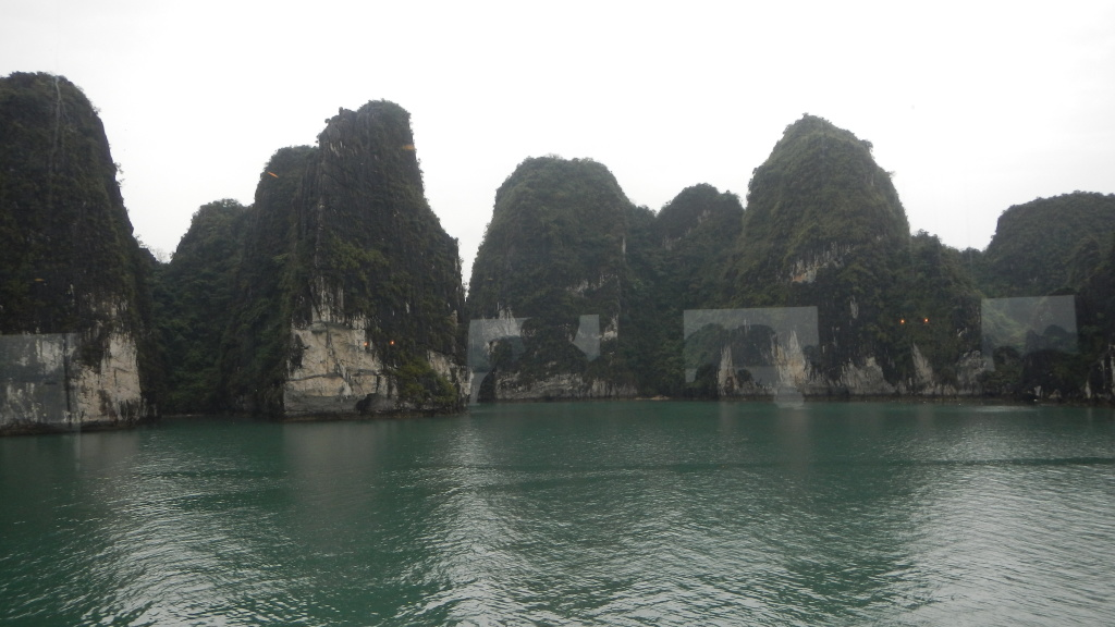 Views from out the window of Ha Long Bay