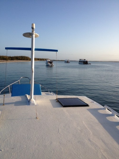 Stunning views of The Broadwater from the Boat