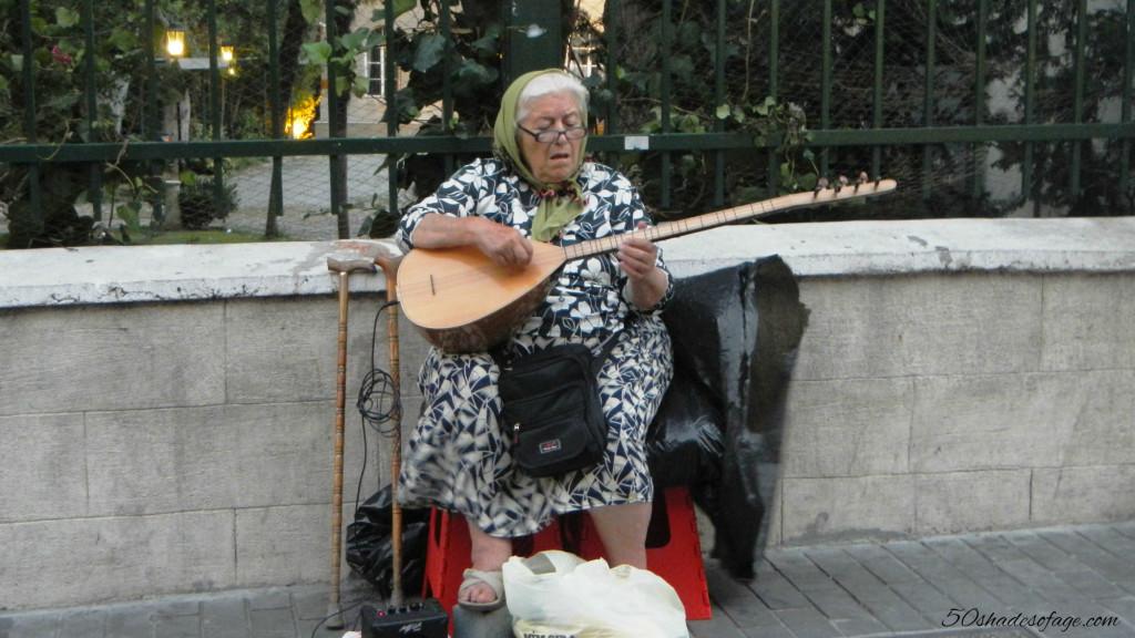 Street Musician in Beyoglu