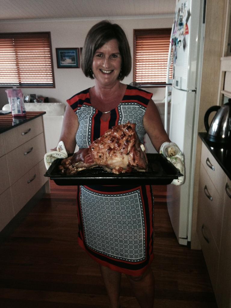 Baking the Christmas Ham