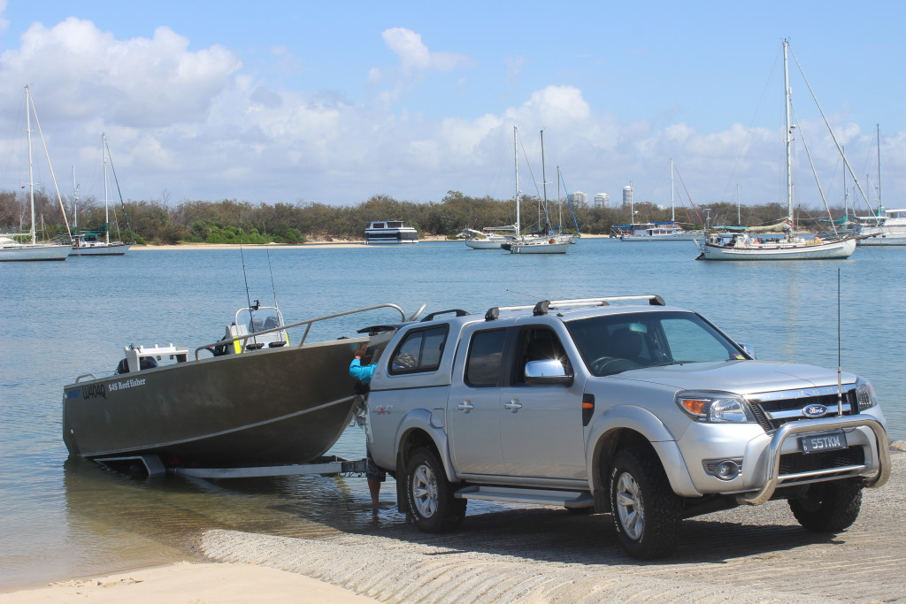 Launching the Boat at the Southport Broadwater