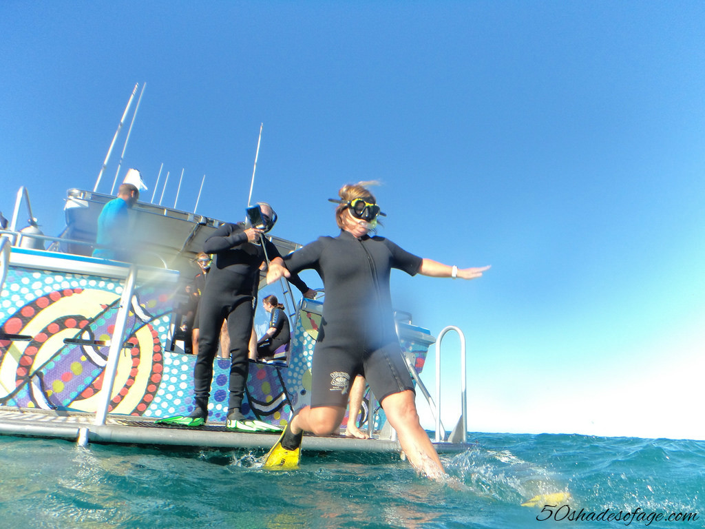Plunging into the Ningaloo Reef