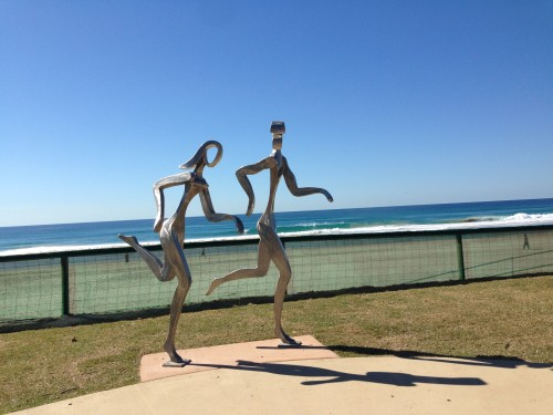 The Joggers Sculptures at Miami Beach