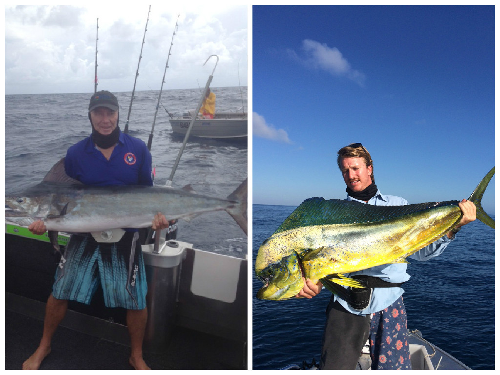 The Boys with their Catches - Kingfish & Wahoo