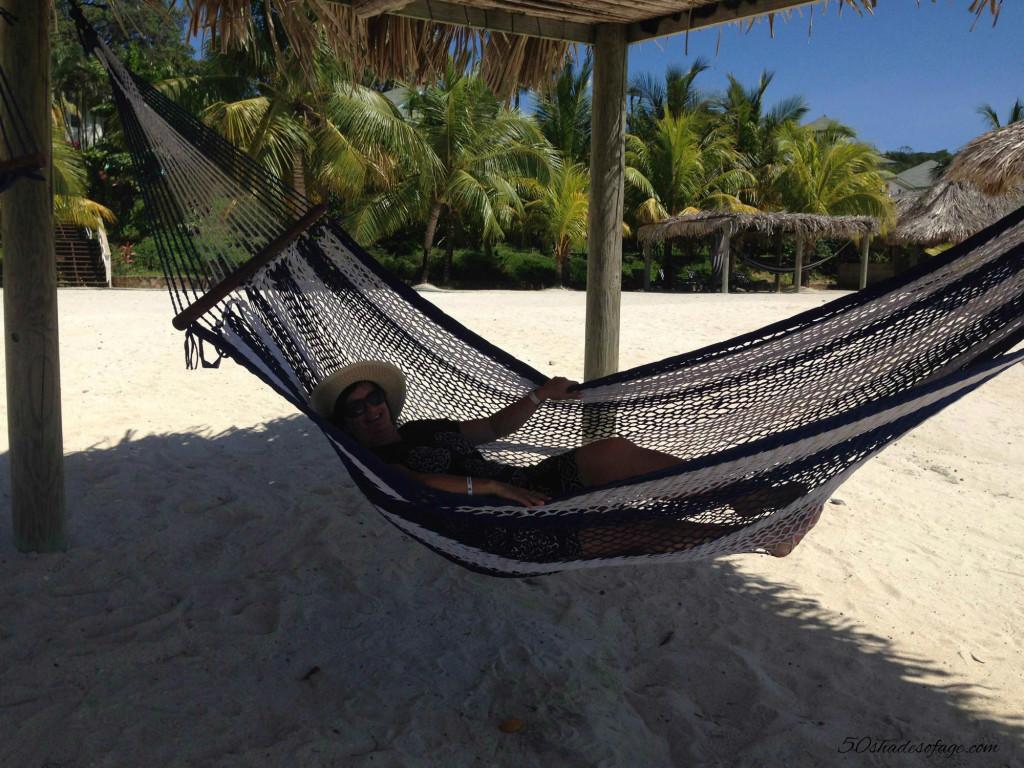 Relaxing at Roatan, Honduras