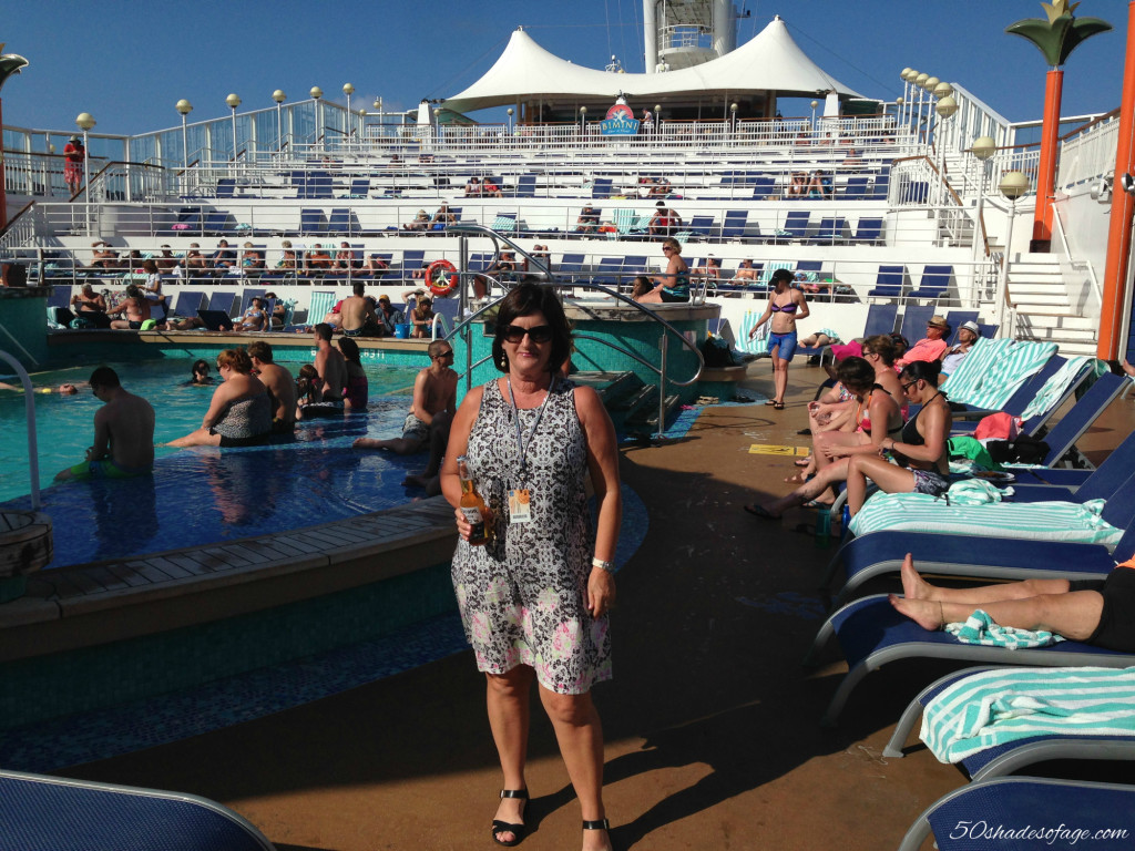 Relaxing around the Pool on the Cruise Ship
