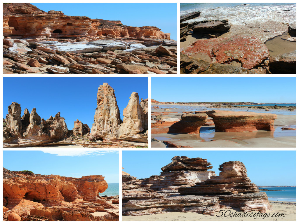 Rock Formations at Barn Hill Station Beaches