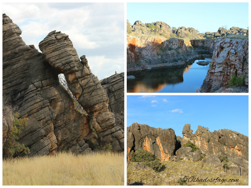 Interesting rock formations and gorge at Fitzroy Crossing