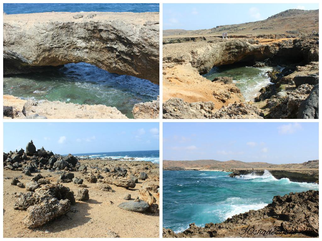 Natural Bridge and wild coastline of Aruba