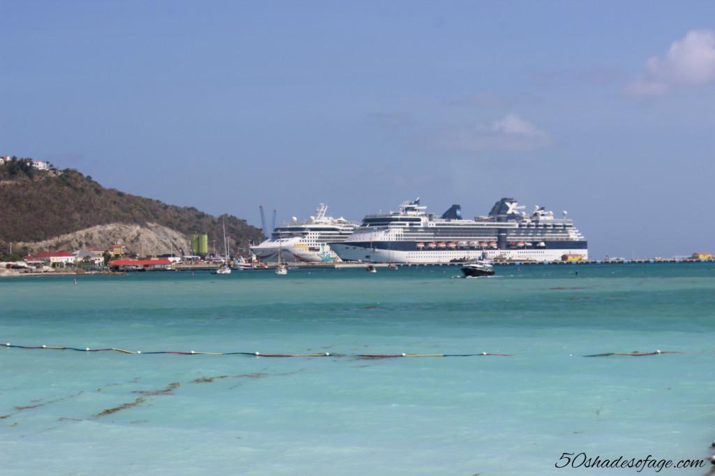 Cruise Ship at St Maarten, Caribbean