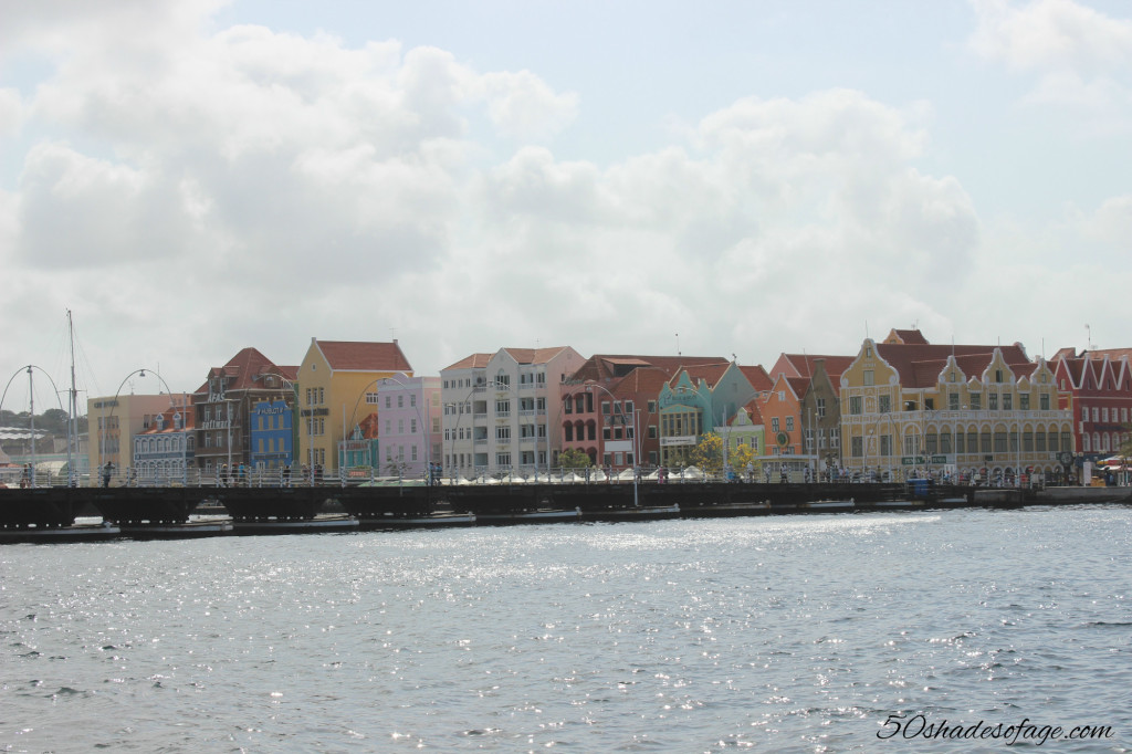 Multi-coloured Dutch inspired buildings in Willemstad