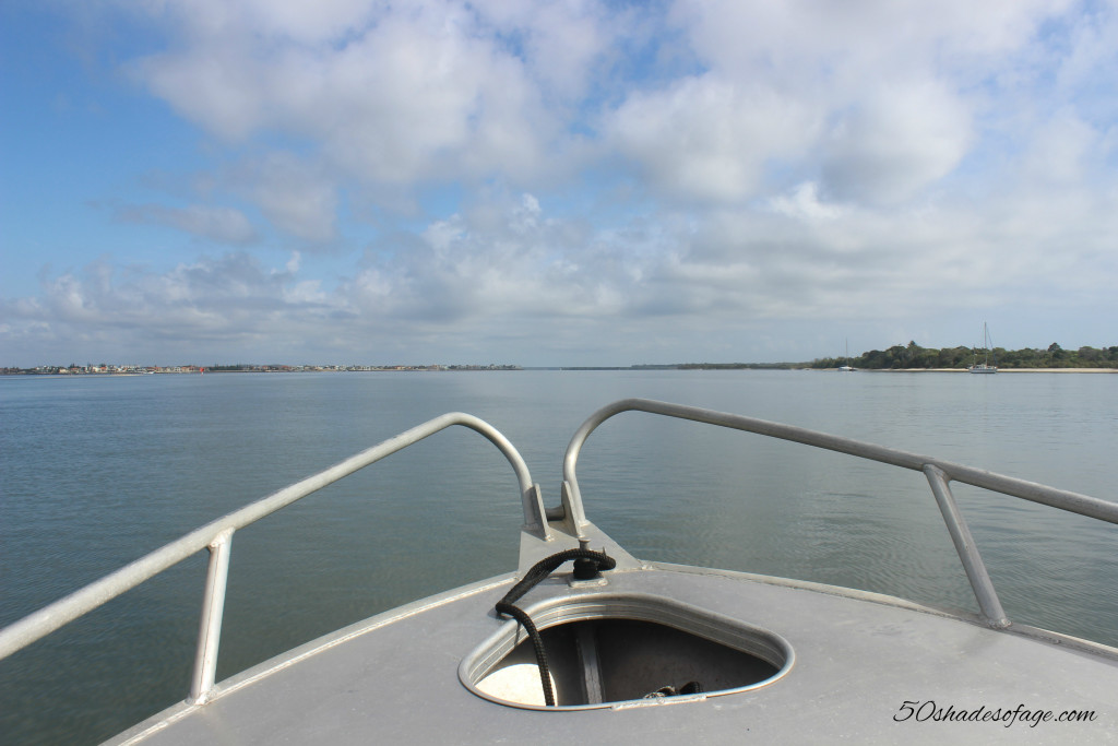 Boating in the calm waters of the Southport Broadwater
