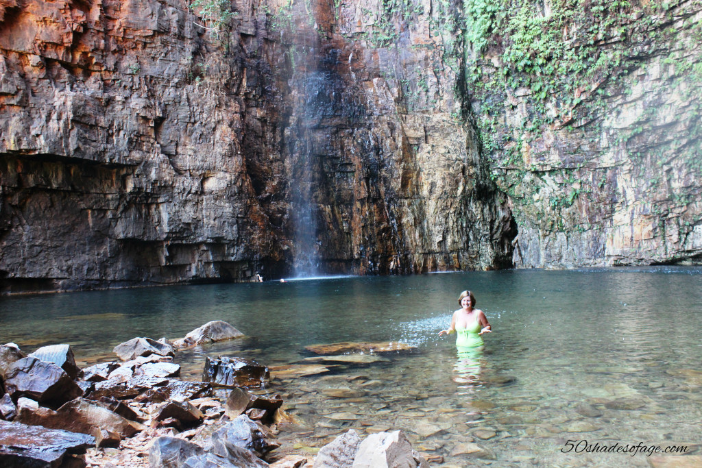 Waterfall and Rock Pool at Emma Gorge, El Questro