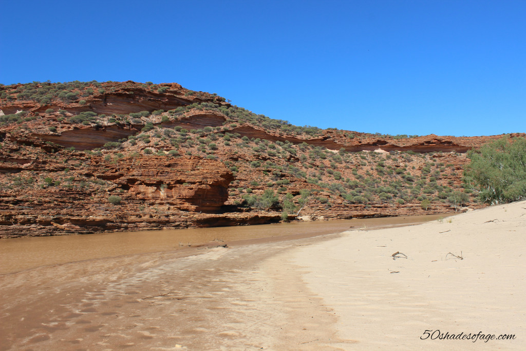 River Bed at the Bottom of Kalbarri Gorge