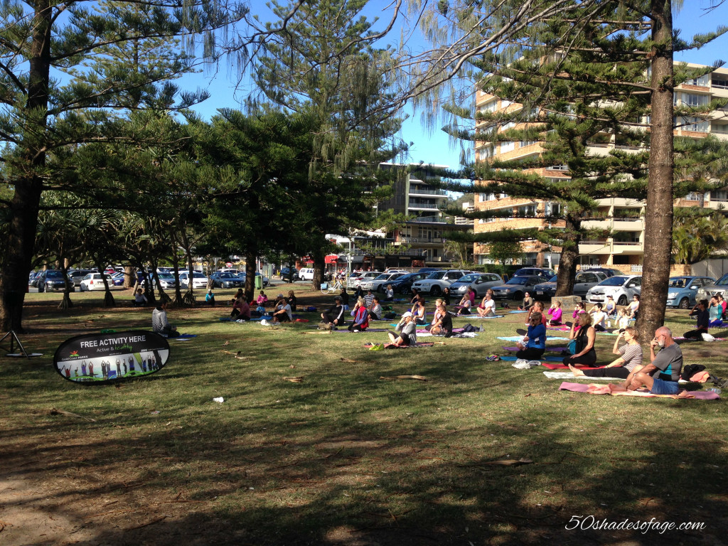 Free Yoga in the Park at Burleigh Heads