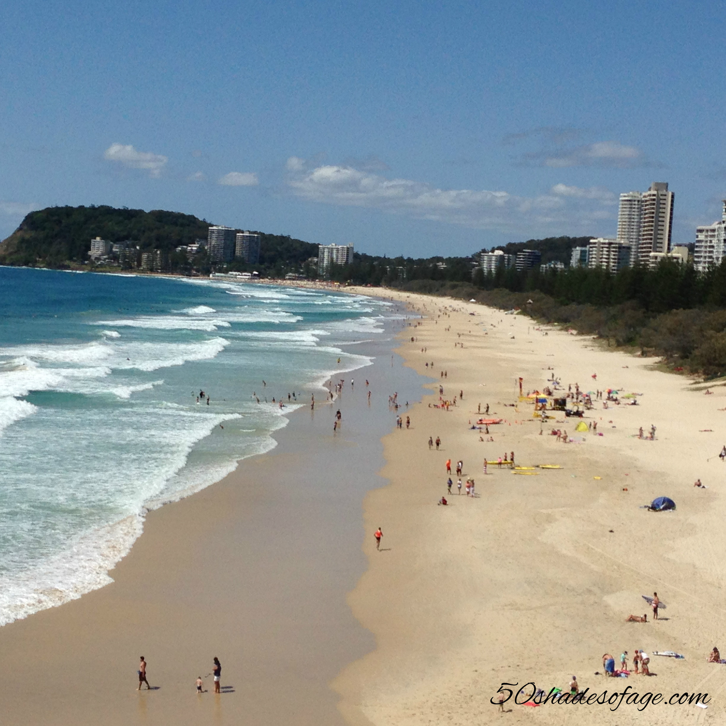 View of North Burleigh Beach