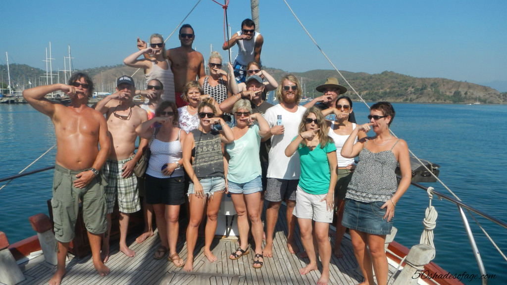Our fellow guests aboard the Yacht