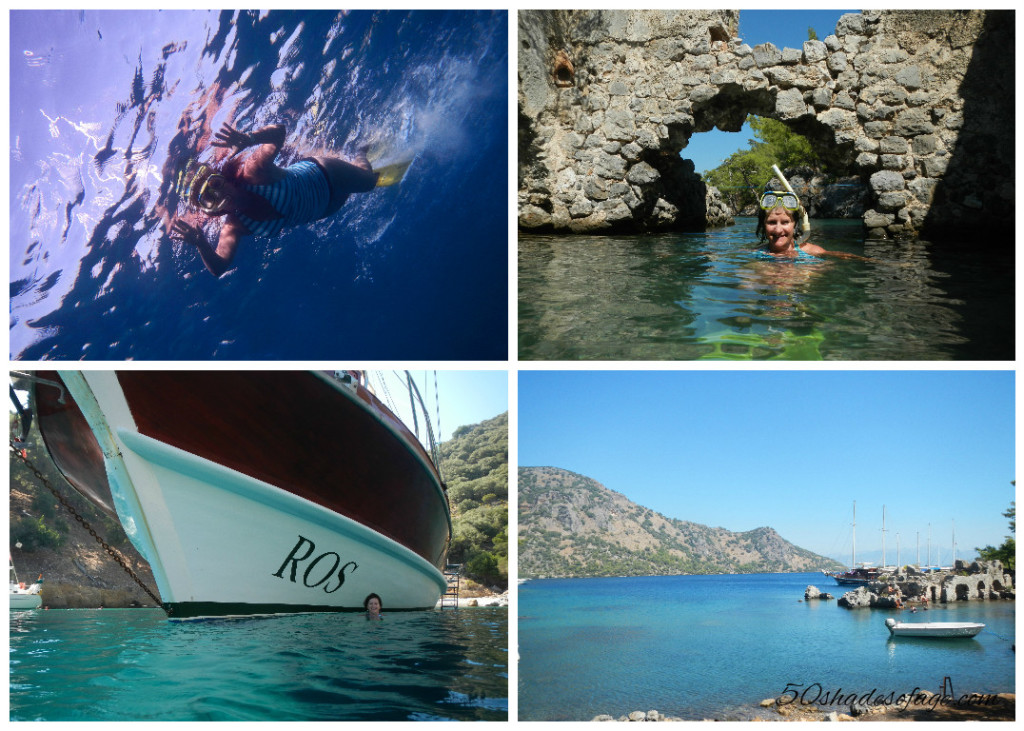Snorkelling in Cleopatra Bay around Lycian Tomb Ruins