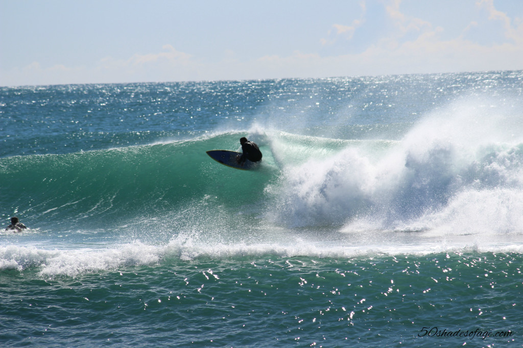 Surfing at Burleigh Point