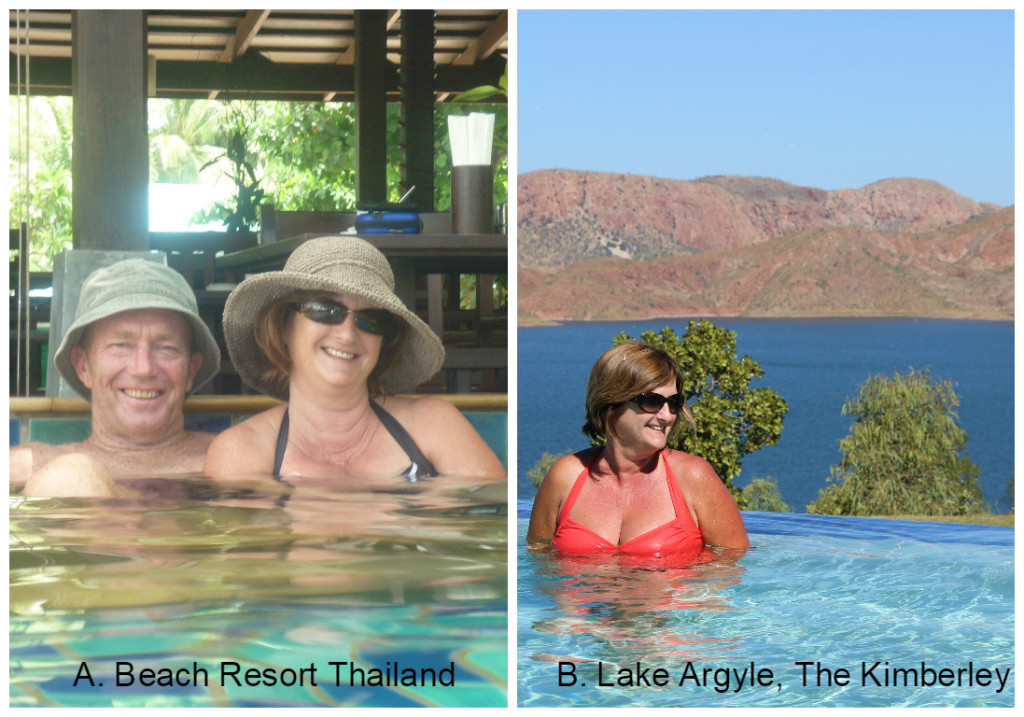 A. 5 Start Resort, Thailand or B. Caravan Park at Lake Argyle