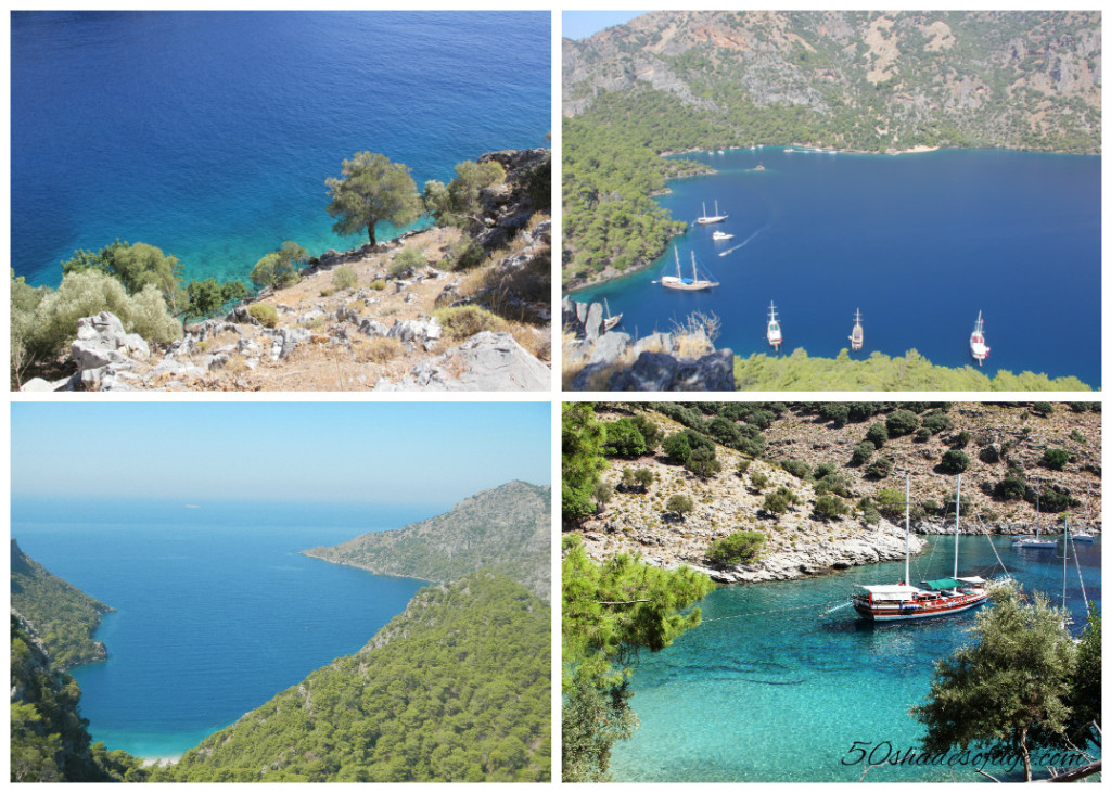 Views from Island over Aga Limani Bay
