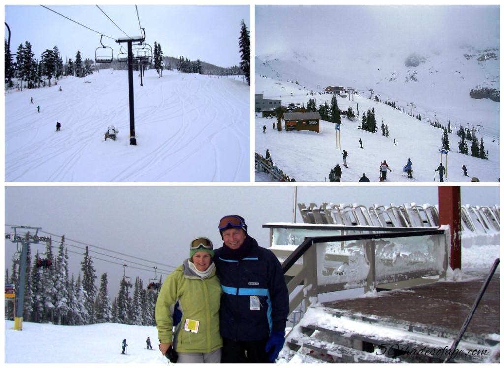 Skiing in Whistler/Blackcomb, Canada