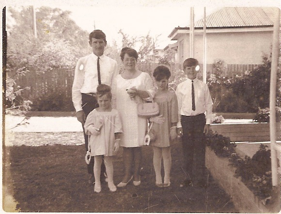 A typical 1960s Family dressed up in their Sunday Best