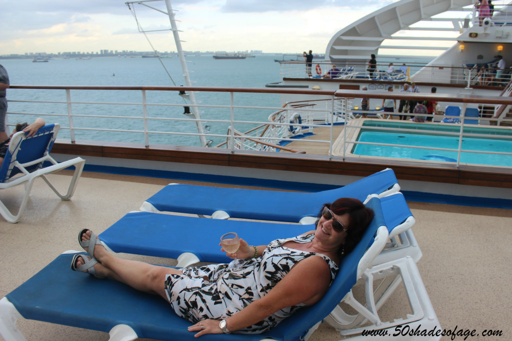 Relaxing on the rear deck