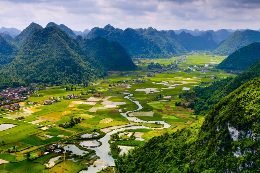 Valley in Sapa Vietnam