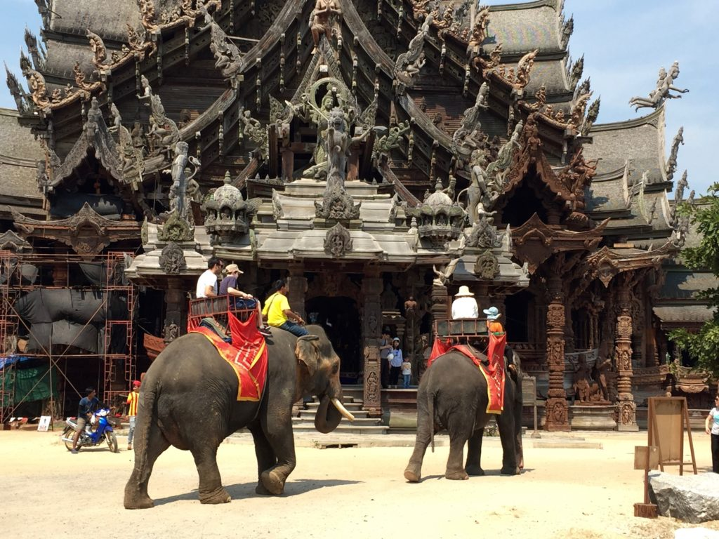 Sanctuary of Truth Elephant Rides