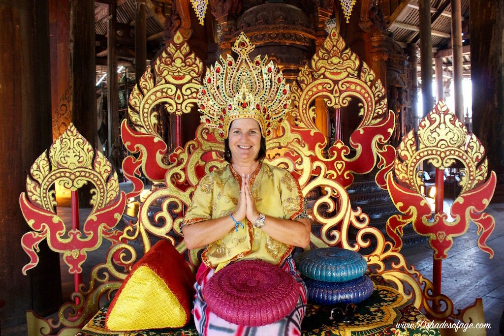 Thai Princess at the Sanctuary of Truth