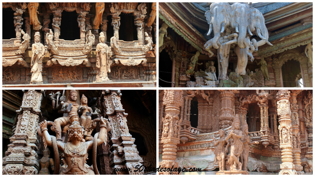 Sanctuary of Truth Wooden Carvings