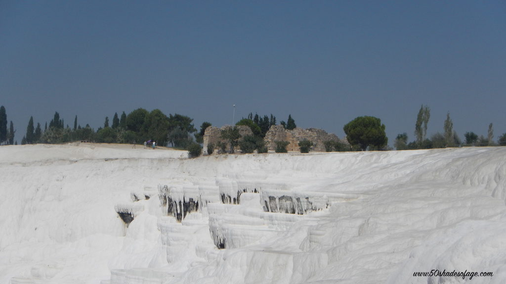 The Travertine Cascades of Pamukkale and Ruins of Hierapolis