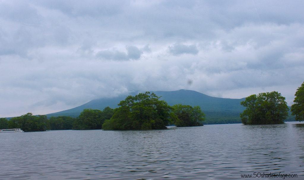 Onuma Lake with Mt Komagatake in the background