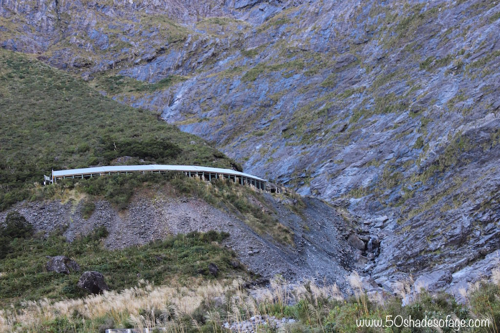 Nelson Tunnel through the Pass on the Milford Road