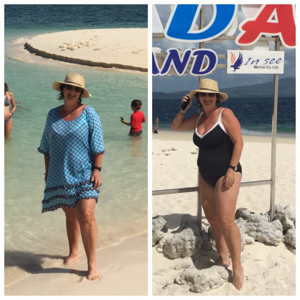 Left: Beach Cover-up from Byron Bay Markets & Straw Hat from New Orleans Right: Black & White Cossies are Sea Folly