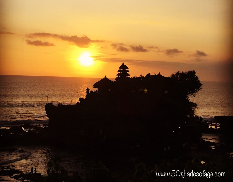 Pura Tanah Lot Temple at Sunset