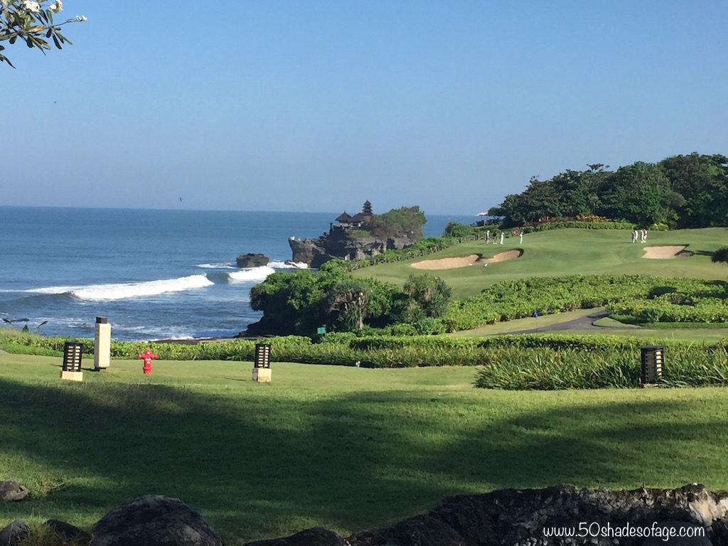 Views of Tanah Lot Temple from the Resort