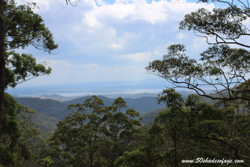 Views from Mt Glorious over the Brisbane Valley and Lake Wivenhoe