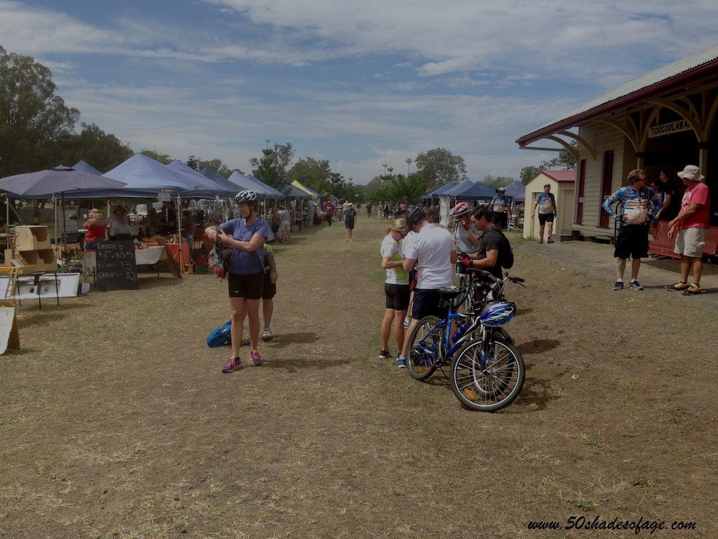 Markets in Toogoolawah at the Railway Station after the Bike Ride