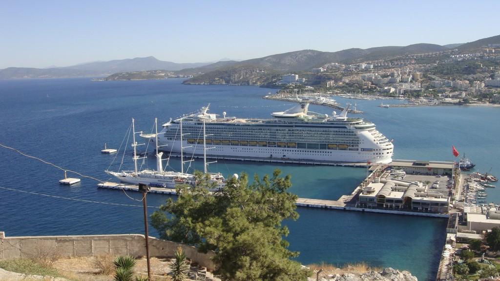 View over Kusadasi Port