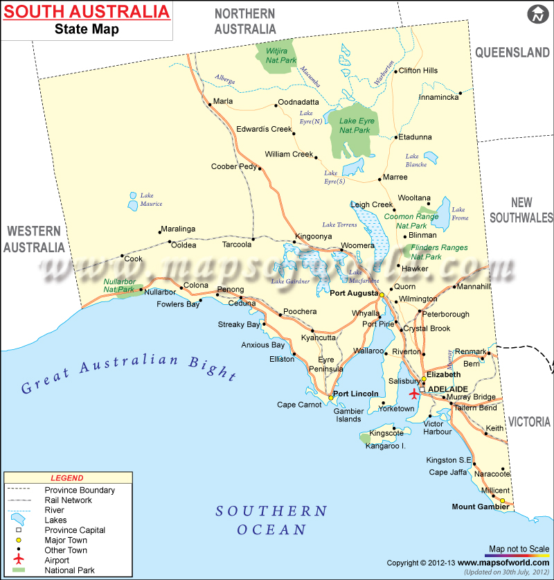 Southaustraliapoliticalmap Shades Of Age - Political map of australia