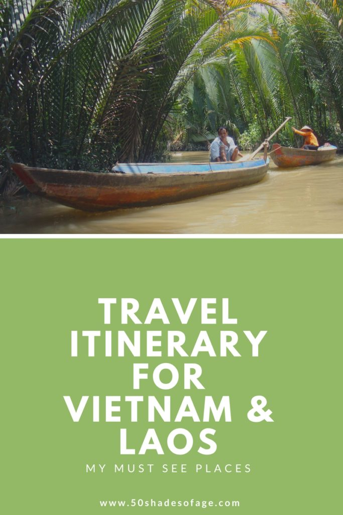 Travel Itinerary for Vietnam and Laos